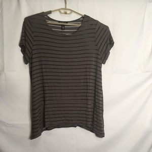 Karen Scott Striped Short Sleeve Top Size 1X